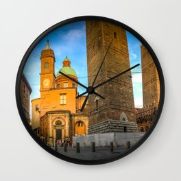 Bologna, Italy Two Towers or Due Torri Wall Clock