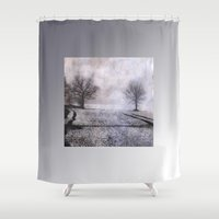 fog Shower Curtains featuring Fog by PeDSchWork