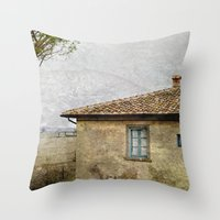 italian Throw Pillows featuring Italian Farm by ZenzPhotography