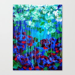 Abstract Flowers - No one knows her better Canvas Print