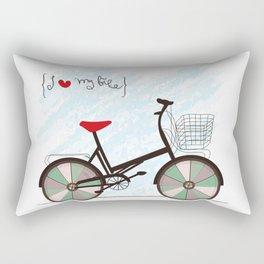 I {❤} My Bike Rectangular Pillow