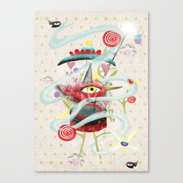Hidding our loneliness sweetness  Canvas Print