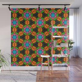 Crayons Flowers Pattern Wall Mural