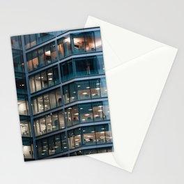 Modern office building pattern Stationery Cards