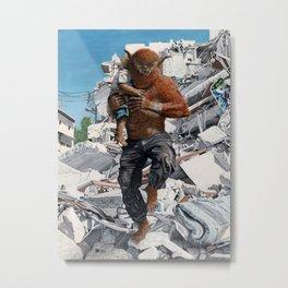 Bugbear Hero Child Rescue Fantasy Art Metal Print