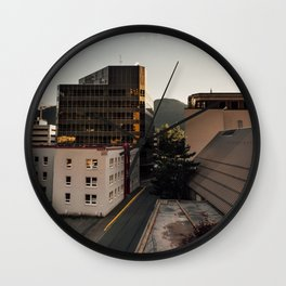 I rate this view 4/12 floors Wall Clock