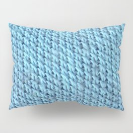 Seed Stitch Blue Pillow Sham