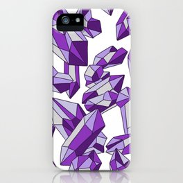 Falling crystals #4 iPhone Case