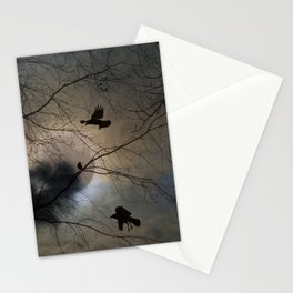 Crows Lit By A Full Moon Stationery Cards