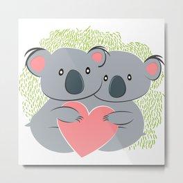Koala innamorati Metal Print