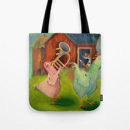Chicken Parade Tote Bag
