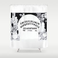 ouija Shower Curtains featuring Voodoo Ouija. by Jessica Bowman Illustrates
