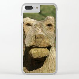 BEAR FACED CHEEK Clear iPhone Case