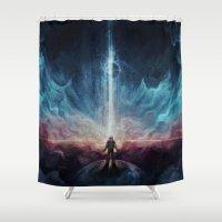 interstellar Shower Curtains featuring Interstellar by jasric