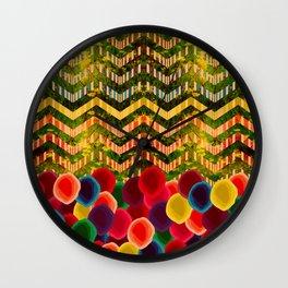 Chevron And Dots Wall Clock