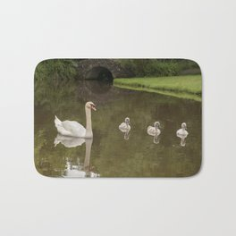 Swans day out Bath Mat
