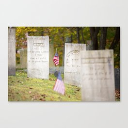 Warner NH Old Cemetery Canvas Print