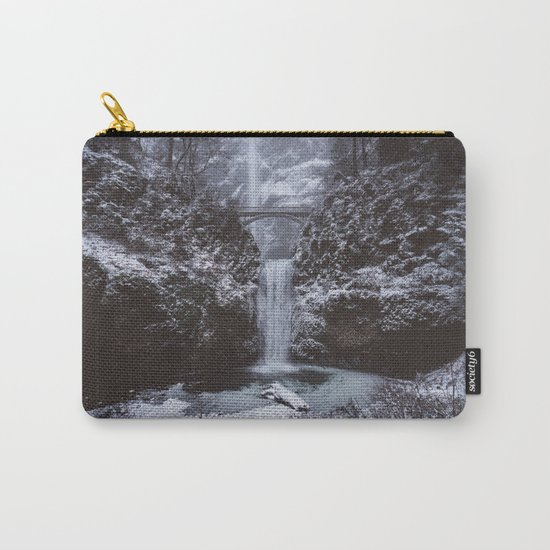 Winterland Waterfall #society6 Carry-All Pouch