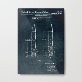 Rocket propelled missile Metal Print