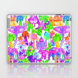 Indian Elephants in Tropical Watercolor Laptop & iPad Skin