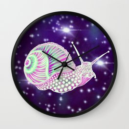 Psychedelic Space Snail Wall Clock