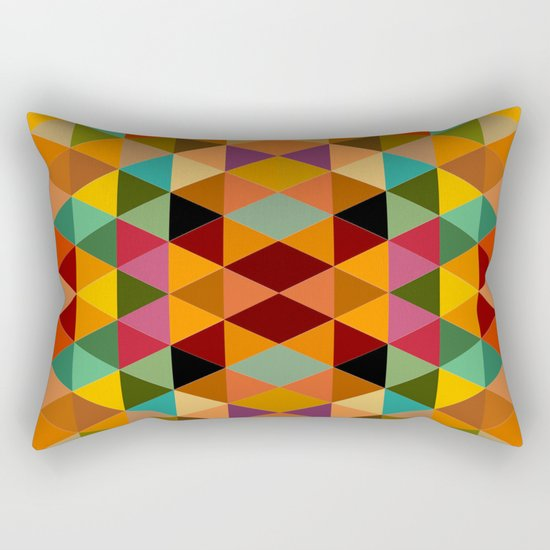 Middle Triangles Rectangular Pillow