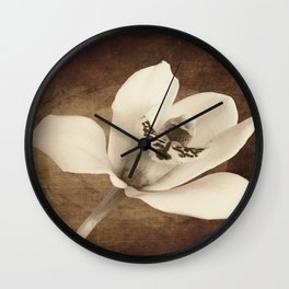 Vintage Flowers Digital Collage 12 Wall Clock