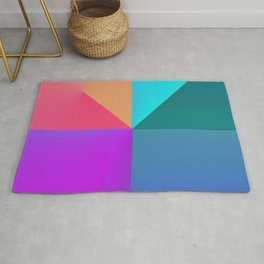 Gradient background Rug