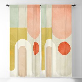 geometry abstract pastel Blackout Curtain