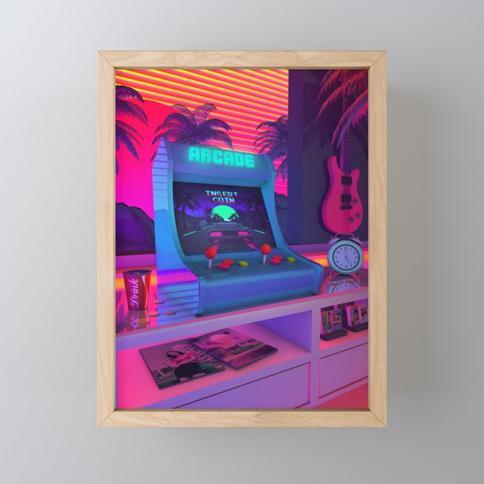 Arcade Dreams Framed Mini Art Print