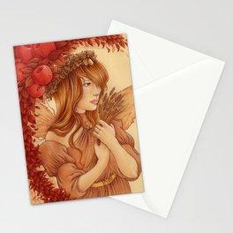 Hada de otoño Stationery Cards