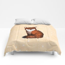 Feeling Foxy Woodland Animal Illustration Comforters