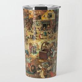 Medieval Town painting Travel Mug