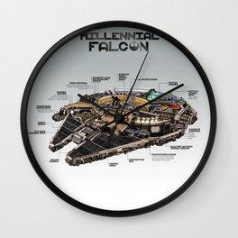 Millennial Falcon Wall Clock