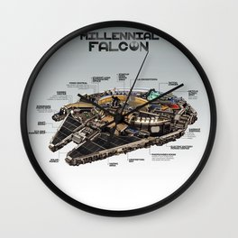 Millennial Falcon Wall Clock