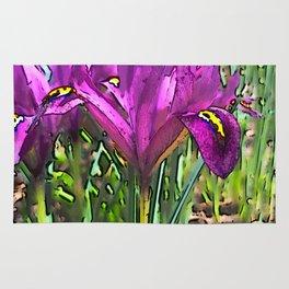 Dwarf Iris in Spring Rug