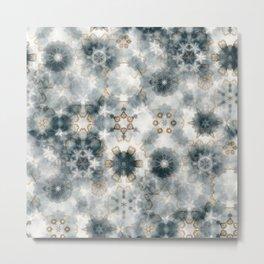 Snow-blurred mandalas Metal Print