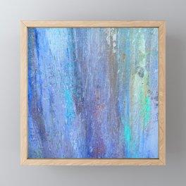 Edges of the Sky in Blues, Aquas and Green Framed Mini Art Print