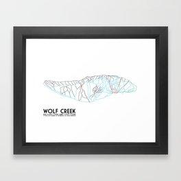 Wolf Creek, CO - Minimalist Trail Art Framed Art Print
