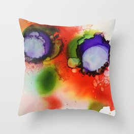 Colorful drops Throw Pillow