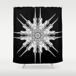 Ninja Star 6 Shower Curtain