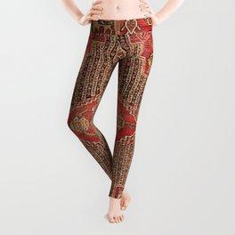 Khamseh  Antique Fars Persian Rug Print Leggings