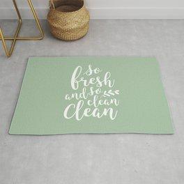 so fresh so clean clean  / mint Rug