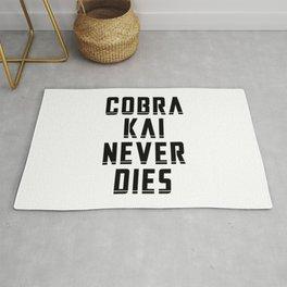 Cobra Kai Never Dies - Black Rug