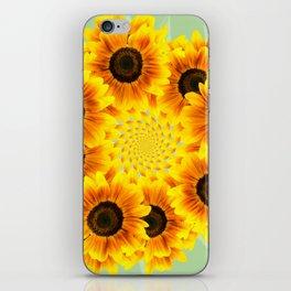 Spinning Sunflowers iPhone Skin