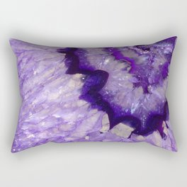 Purple Crystal Rectangular Pillow