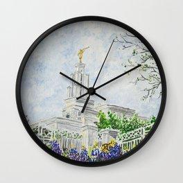 San Antonio Texas LDS Temple Wall Clock