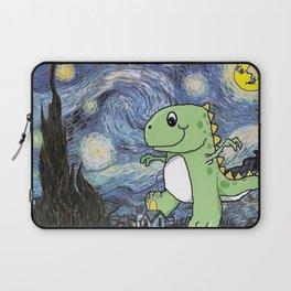 Tyrannosaurus Rex Under the Starry Night Sky Laptop Sleeve