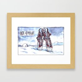 Ice Cycle Framed Art Print