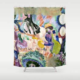 "Robert Delaunay ""Carousel of Pigs (Fr: Manege de cochons)"" Shower Curtain"